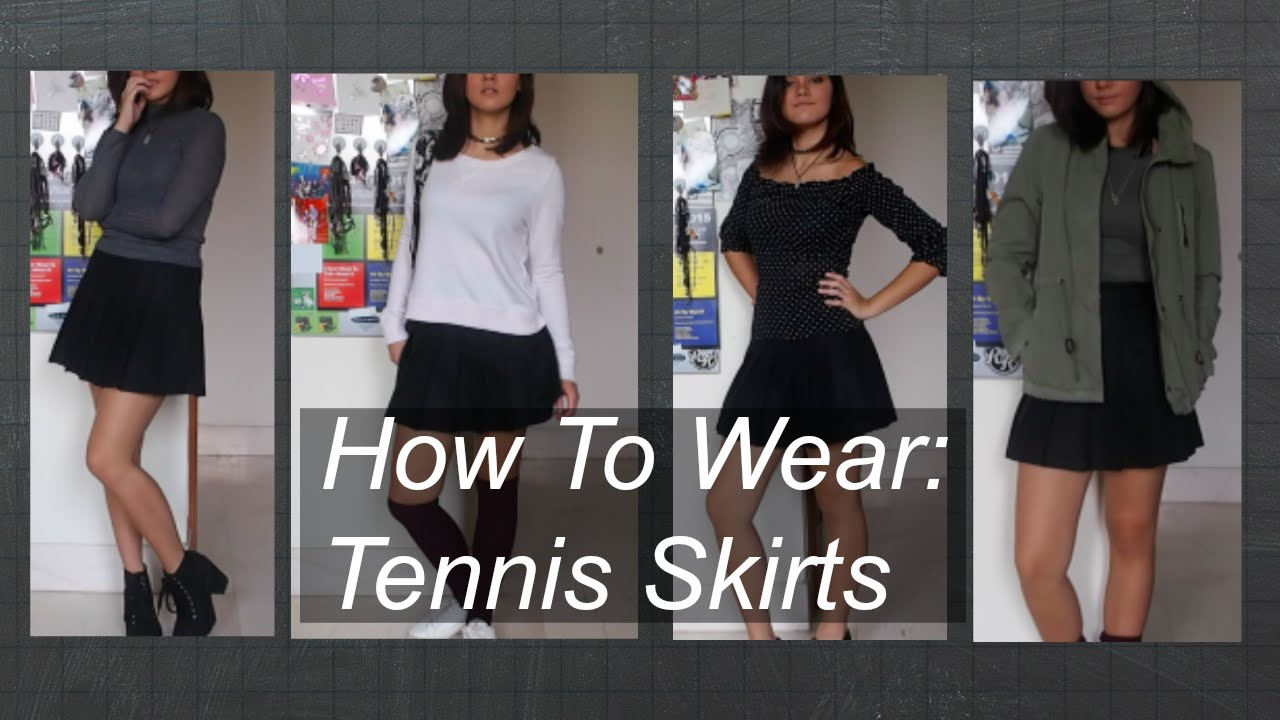cd50462089 AMERICAN APPAREL TENNIS SKIRT : How To Wear │ Psyc - YouTube