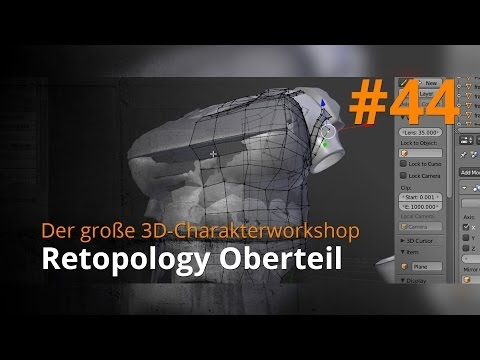 Blender 3D-Charakterworkshop Teil 1 | #44 – Retopology Oberteil