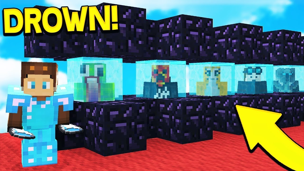 DROWNING 1,000 PLAYERS ON MY MINECRAFT SERVER! (Minecraft Trolling)