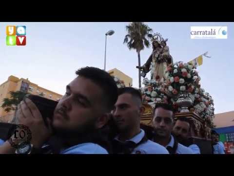 La Virgen del Carmen en procesión por la calle de la Granja 2019