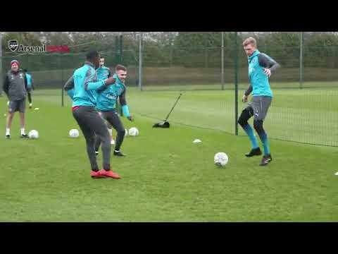 Первая тренировка Мхитаряна за Арсенал