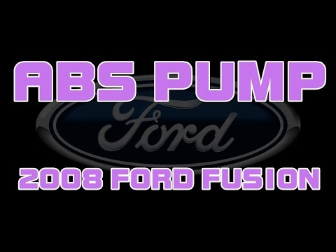 2008 Ford Fusion - ABS Pump And Module Replacement - Brake Pedal
