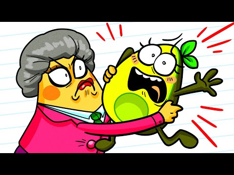 Scary Teacher vs Vegetables Compilation | Funny Clips | Avocado Couple