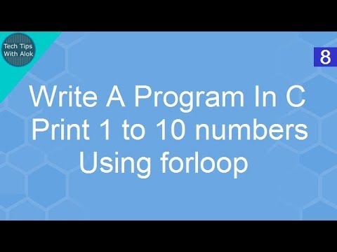 Write A Program In C print 1 to 10 numbers using for loop