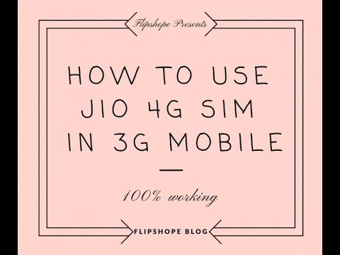 How to Use Jio 4G Sim in Moto G 1st, 2nd and 3rd Generation