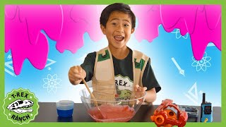 Slime Time at T-Rex Ranch! Science for Kids! Fun Educational Science Experiments to Do at Home!