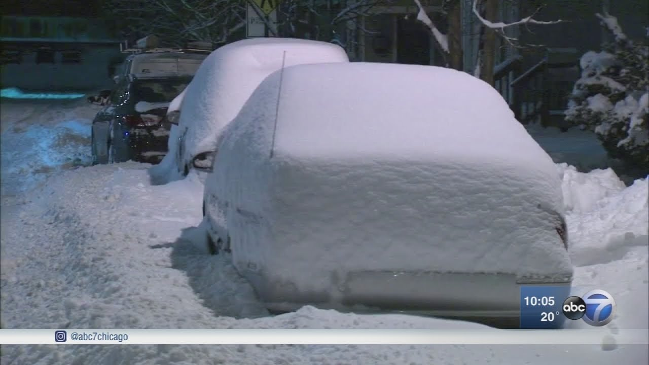 Chicago Weather Winter Storm Dumps Up To A Foot Of Snow Across The Area