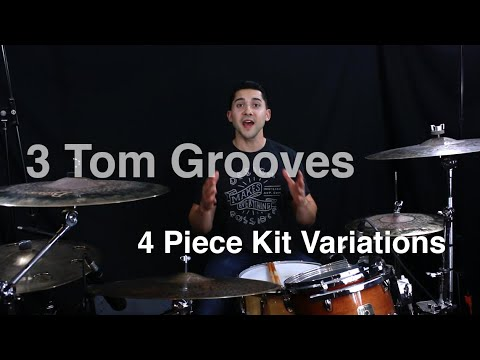 Tom Grooves- 3 Variations for 4 Piece Kits- Drum Lesson With Eric Fisher