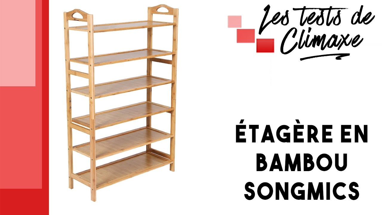 test d une etagere en bambou a 5 niveaux songmics