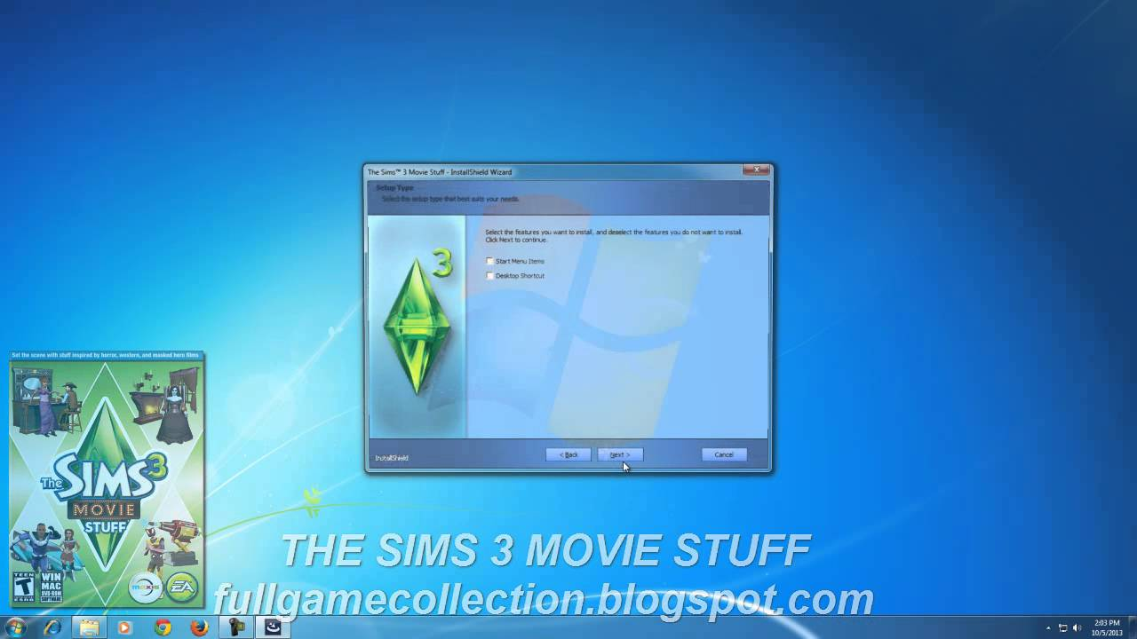 the sims 3 movie stuff free download pcmac full pack youtube. Black Bedroom Furniture Sets. Home Design Ideas