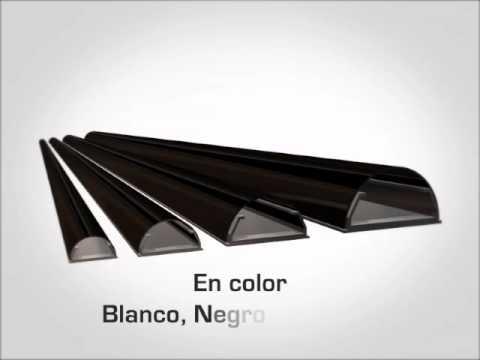 Canaleta ocultacables de aluminio for Canaletas de agua leroy merlin