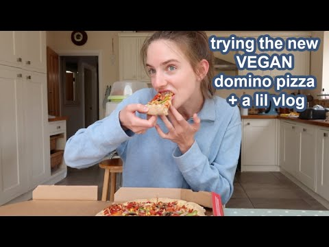 trying the new vegan dominos pizza VLOG