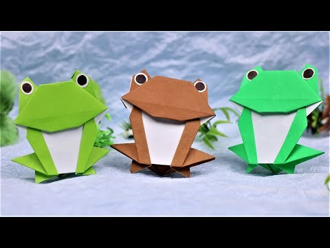Paper Folding Art (Origami): How to Make  Funny Frog