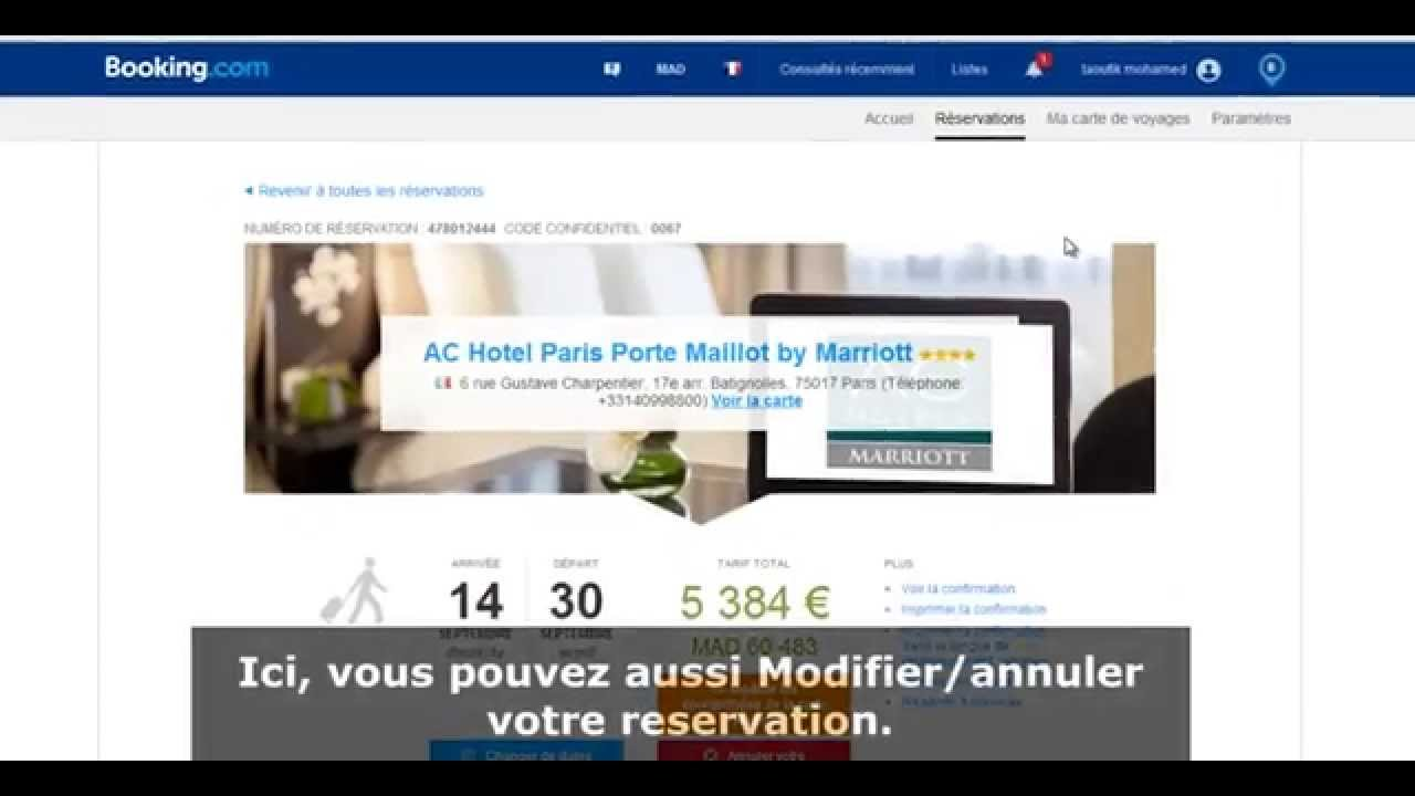 Campus france maroc visa faire une reservation sur for Reserver sur booking