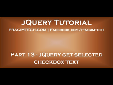 JQuery Get Selected Checkbox Text