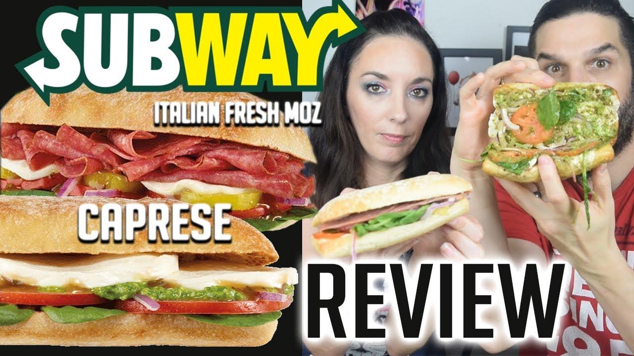 WFR Trying the Subway Caprese & Italian