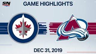 NHL Highlights   Jets vs. Avalanche - Dec. 31, 2019