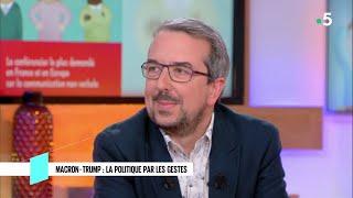 Macron - Trump : la politique par les gestes - C l'hebdo - 28/04/2018