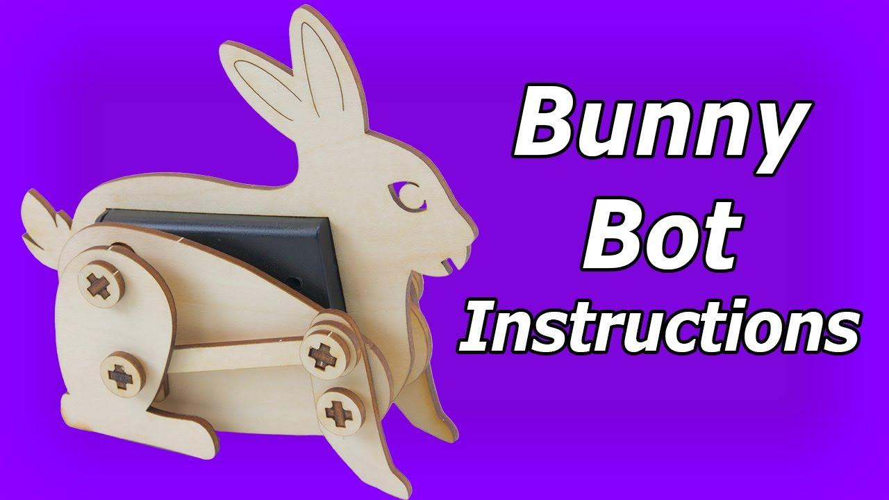 Bunny Bot Instructions: DIY Wooden Robot Kits