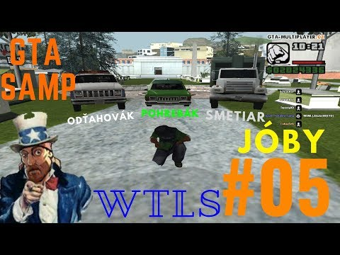 GTA SAMP - WTLS | POHREBÁK, ODŤAHOVÁK, SMETIAR | JÓBY #05 | CZ/SK