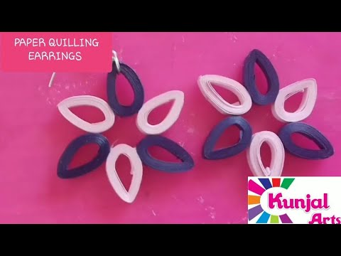 SIMPLE DIY EASY TO MAKE PAPER QUILLING EARRINGS / QUILLING JEWELLERY/ ACCESSORIES / CREATIVE