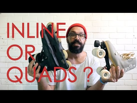 ROLLER SKATES OR INLINE SKATES ? // HOW TO SKATE FOR DUMMIES TUTORIAL - EPISODE 1