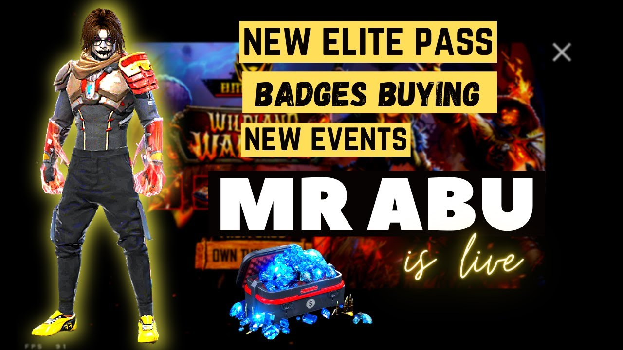 Free Fire live/ new elite pass badges/ headshots MR ABU, FF Pakistan
