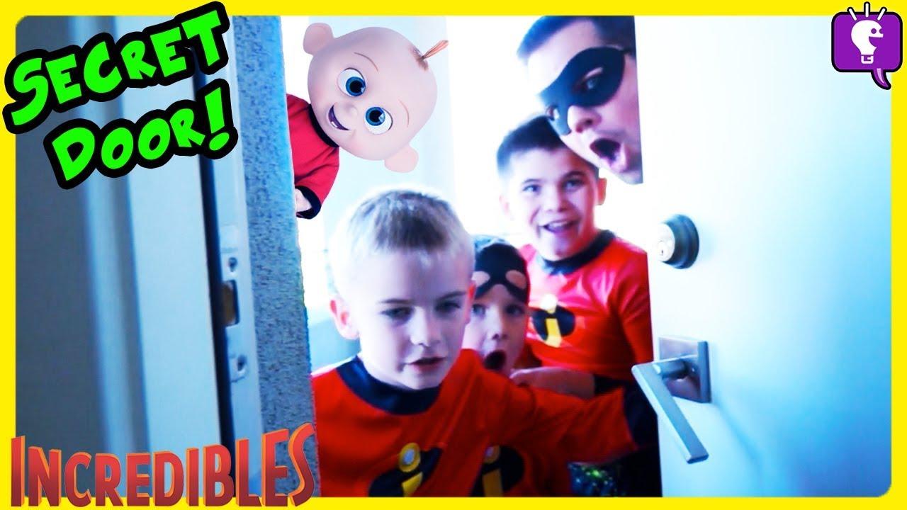 Jack Jack SECRET DOOR in HobbyKids House! Incredibles Adventure PART 3