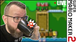 🔴 Super Mario Maker 2 & Coffee Live Stream - Viewer Levels with Darby