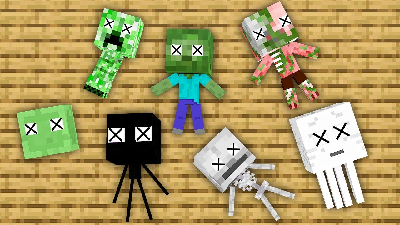 Monster School : All Seasons Challenge - Minecraft Animation