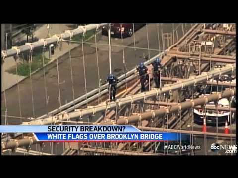 Mystery Deepens Around White Flags Flying on Brooklyn Bridge   ABC News