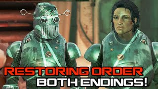 Fallout 4 - Restoring Order Both Endings (Sparing and Killing The Mechanist) Mechanist's Armor