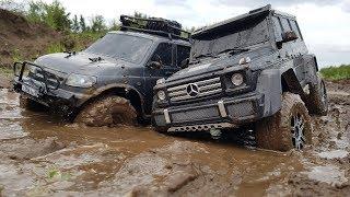Битва Гелика и УАЗ Патриота в гряземесе! ... Traxxas G500 vs UAZ Patriot
