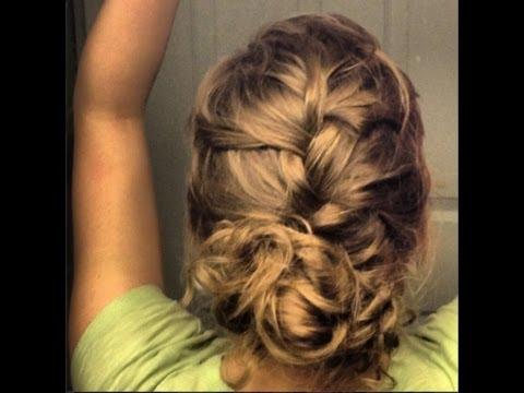 French braid updo with a bun prom wedding or special occasion french braid updo with a bun prom wedding or special occasion tutorial pmusecretfo Gallery
