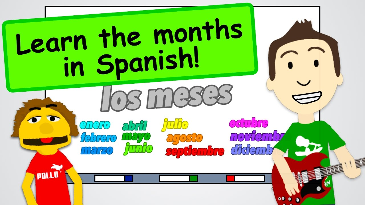 Months of the Year in Spanish + a Song! - YouTube
