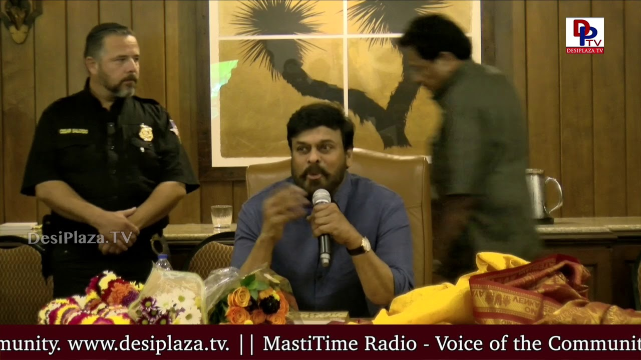"""I love that feeling when fans express their feelings on me"" - Megastar Chianjeevi in Dallas 