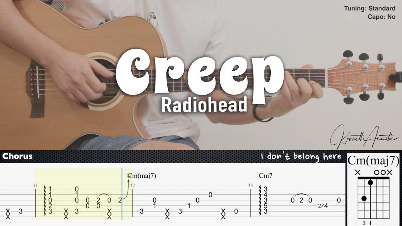 Creep - Radiohead | Fingerstyle Guitar | TAB + Chords + Lyrics