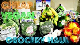 Cheap Vegan Grocery Haul With Prices | Cheap Lazy Vegan