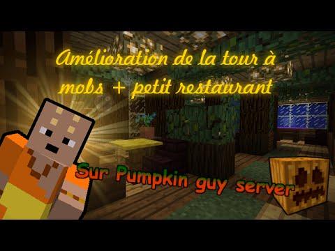 [Minecraft] Amélioration de la tour à mobs + petit restaurant