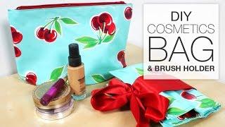 Diy Makeup/cosmetics Bag With Brush Holder - Free Pattern