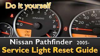 Nissan Pathfinder Service Light Reset