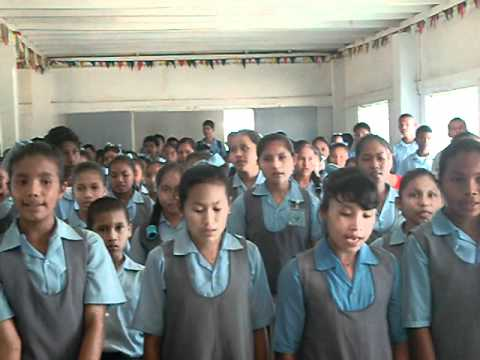 Guyanese National Anthem sang by pupils of Santa Rosa Secondary School