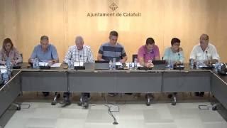 Ajuntament de Calafell: sessió plenària ordinària, 3 d'octubre de 2016
