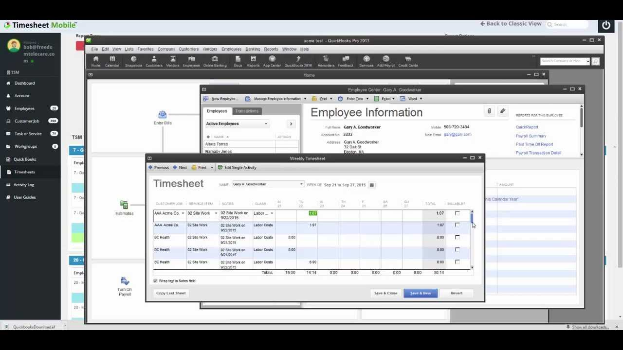 Import Timesheets to QuickBooks Desktop