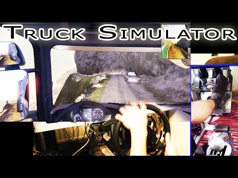 Dangerous roads, near crash compilation - Scania Truck Driver Simulator. Full HDHD 2015