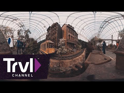 360 Video: The Holiday Train Show at The New York Botanical Garden