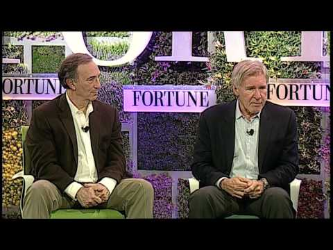 Harrison Ford and Peter Seligmann of Conservation International at Fortune Brainstorm Green 2013