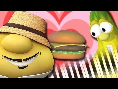 His Cheeseburger (from VeggieTales) - Piano Tutorial
