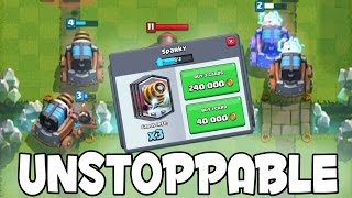 Clash Royale - 4 SPARKY'S UNSTOPPABLE! & Buying Legendary 3 Sparky's From Shop!