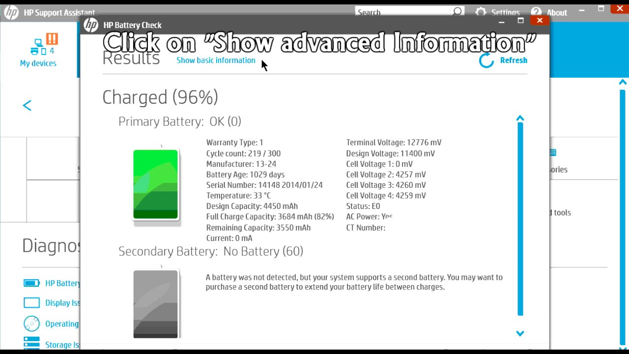 Hp Battery Test How To